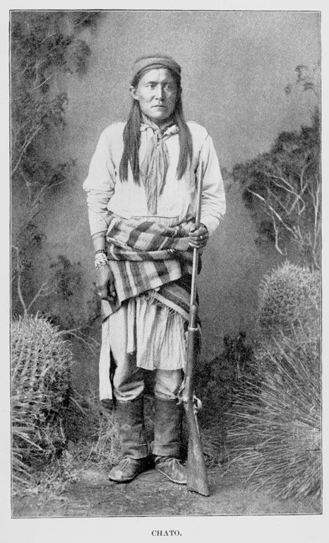 An American Indian called Chatto of the Chiricahua Apache Nation 1884.