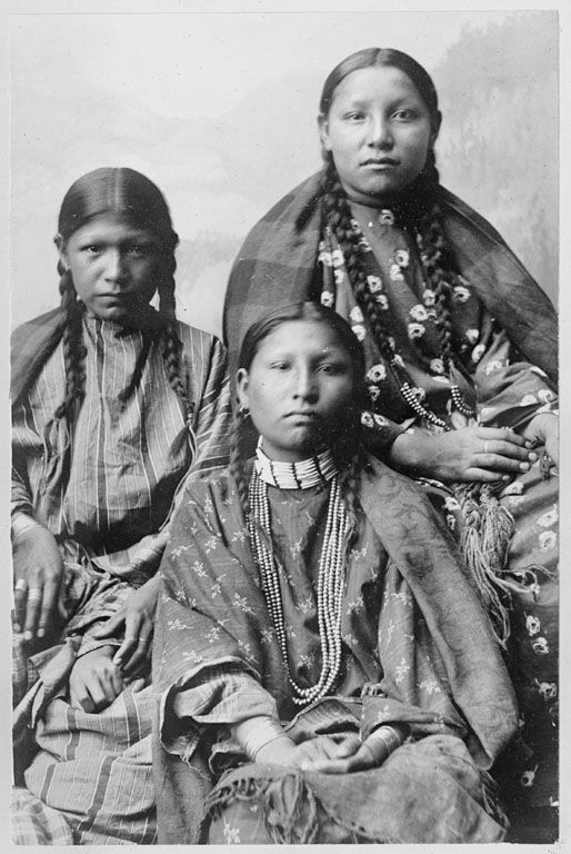 Two Cheyenne Indian Girls, 1895.