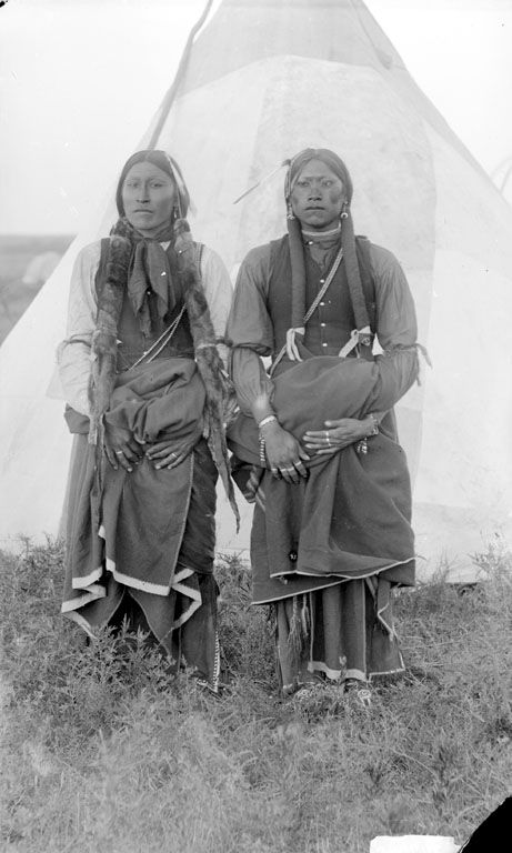Two American Indian Comanche Men 1891.