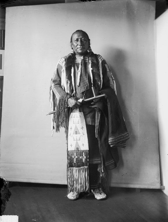 An American Indian called Crossed Feathers of the Cheyenne Nation 1908.