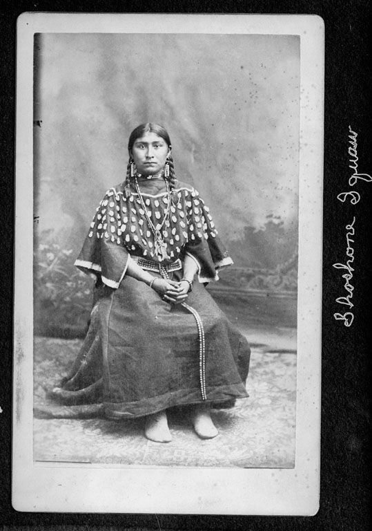 An American Indian woman called Eous of the Shoshoni Nation 1872.
