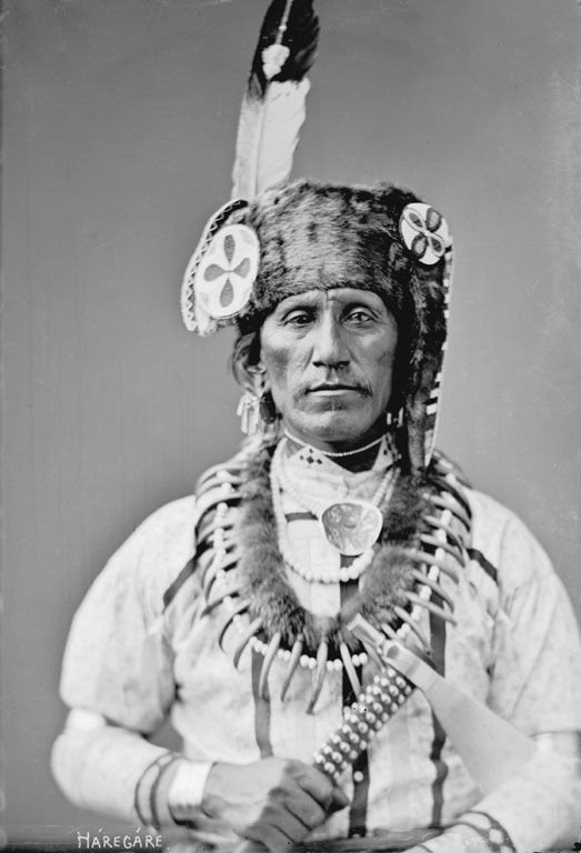 The American Indian named Far Away of the Otoe Nation 1884.