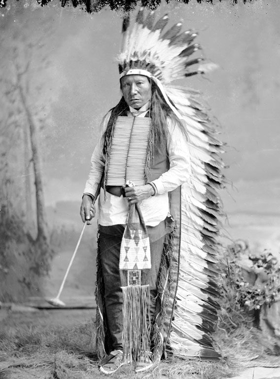 Fast Thunder, an American Indian of the Oglala Nation.