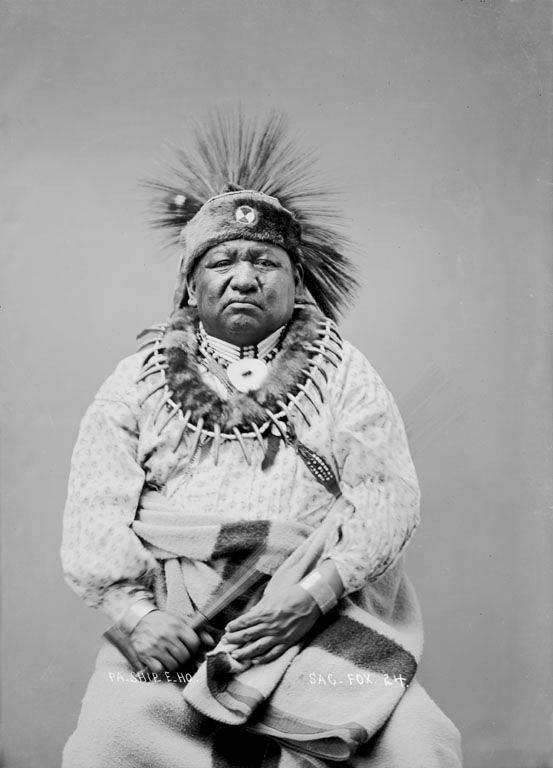 American Indian called Fish Rub Against Something of the Sauk Nation 1896.