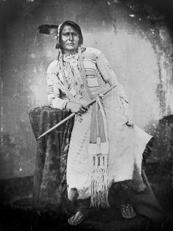 A photograph of the American Indian called Friday of the Arapaho Nation 1869.