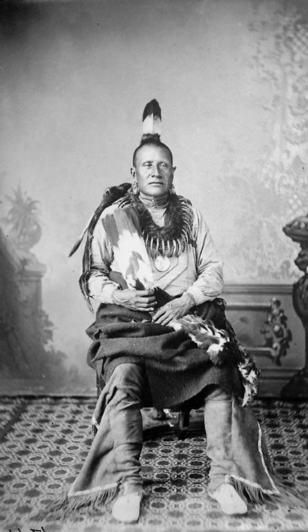 An American Indian named Good Chief of the Pawnee Nation.