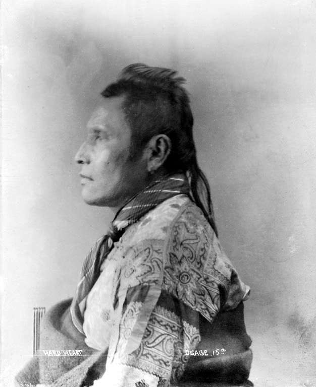 An American Indian called Hard Heart of the Osage Nation 1894.