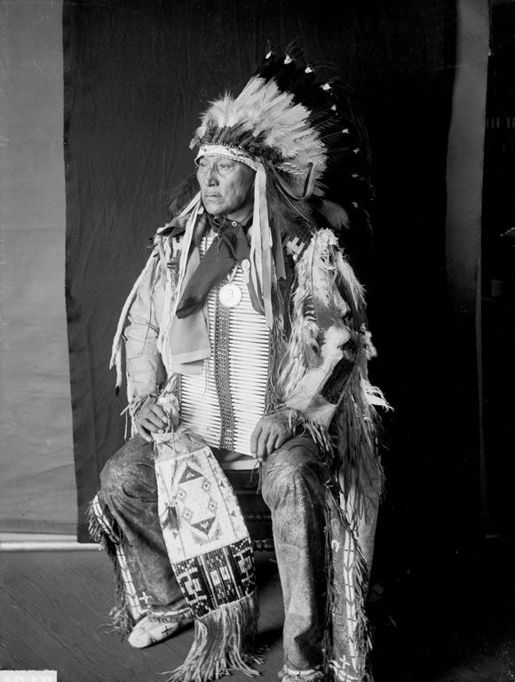 An American Indian of the Sicangu Nation called Hollow Horn Bear 1905.