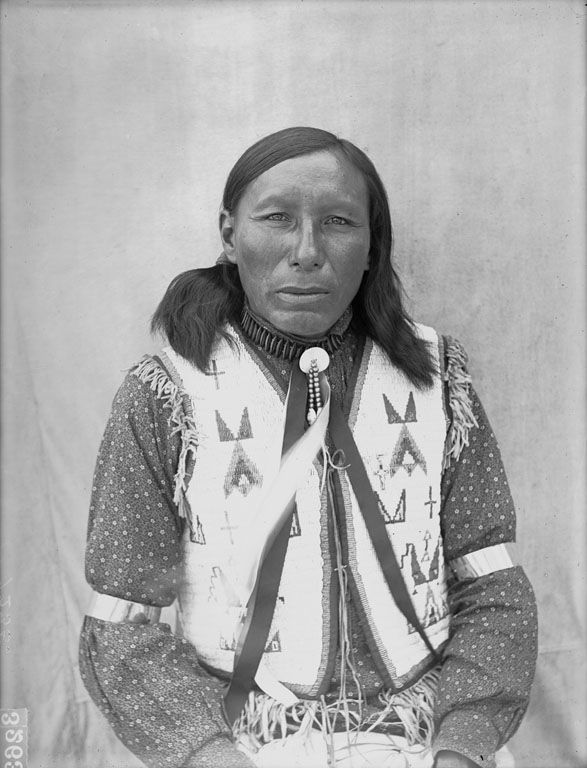 An American Oglala Indian named Iron Elk dated 1907.