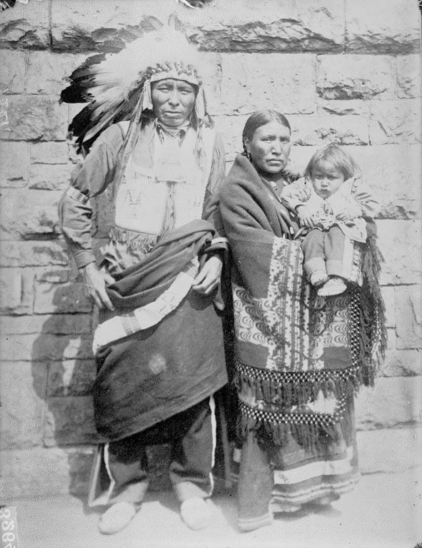Oglala Indians, Iron Elk and Family dated 1907.