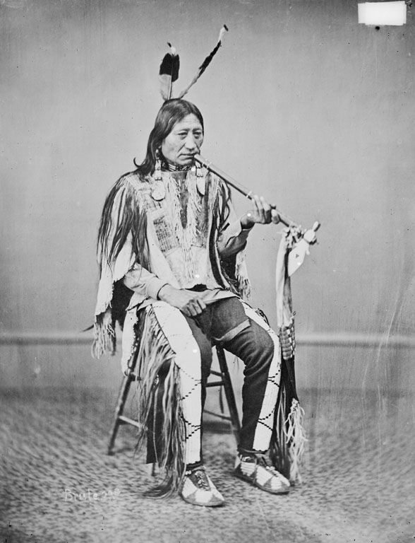 The American Indian called Iron Nation of the Sicangu 1867.