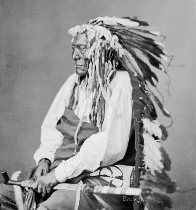 Iron Shell, An American Indian of the Sicangu Nation 1872.