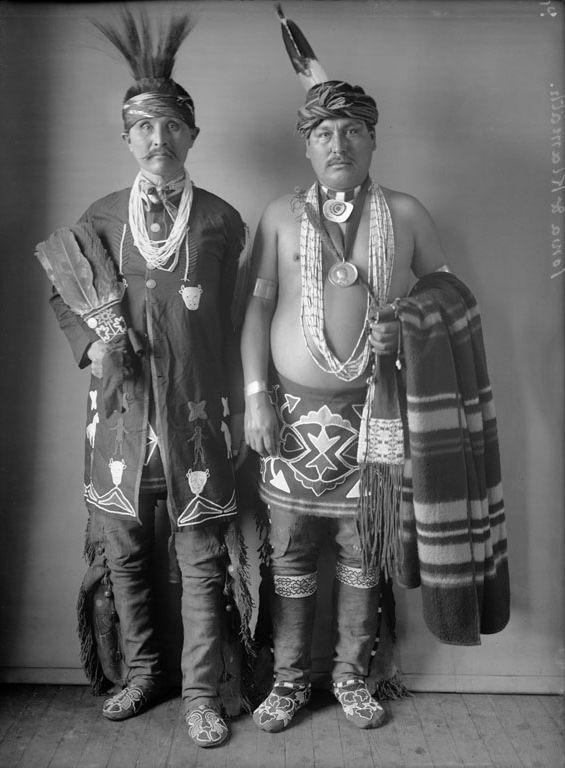 Two American Indians, Jessee Kirk and Joseph Springer - Iowa 1901.