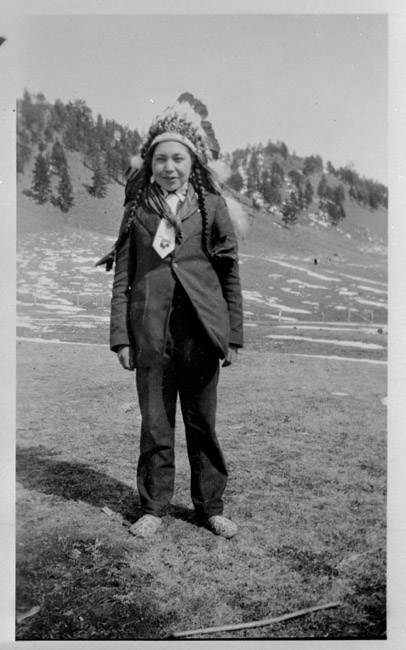 Another photograph of the American Indian, Joe Small Jr.