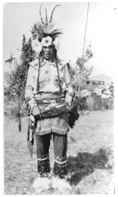 A photograph of the American Indian, Joe Small Jr.