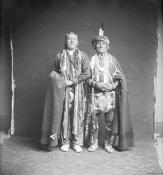 Two American Indians, Kaw Men.