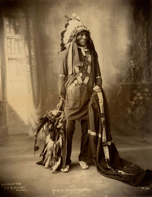Keeps The Mountain, An Oglala Indian 1898.