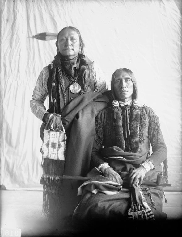 Two American Indians, Hachiini (Little Chief) with Maqiniriyuta (Turkey Leg), Cheyenne 1899.