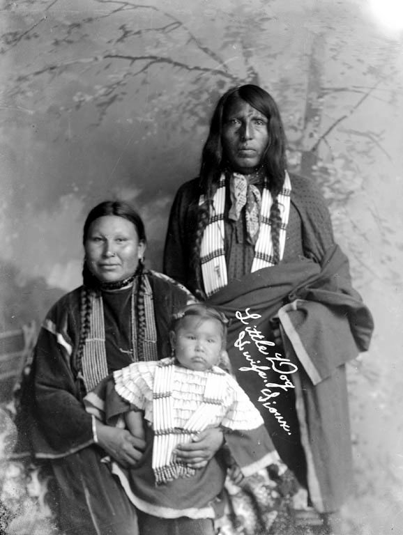 Little Dog and family - Oglala Indians.