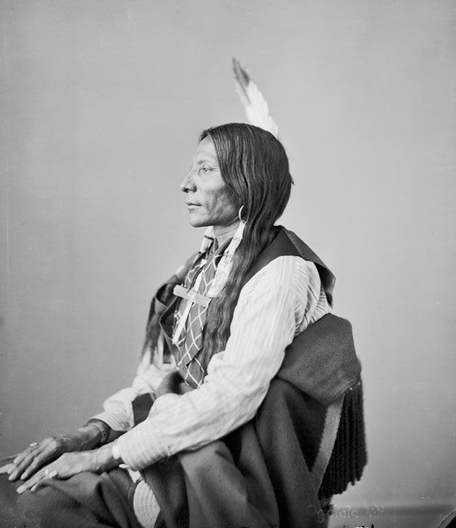 American Indians : Lone Wolf - Oglala 1872.
