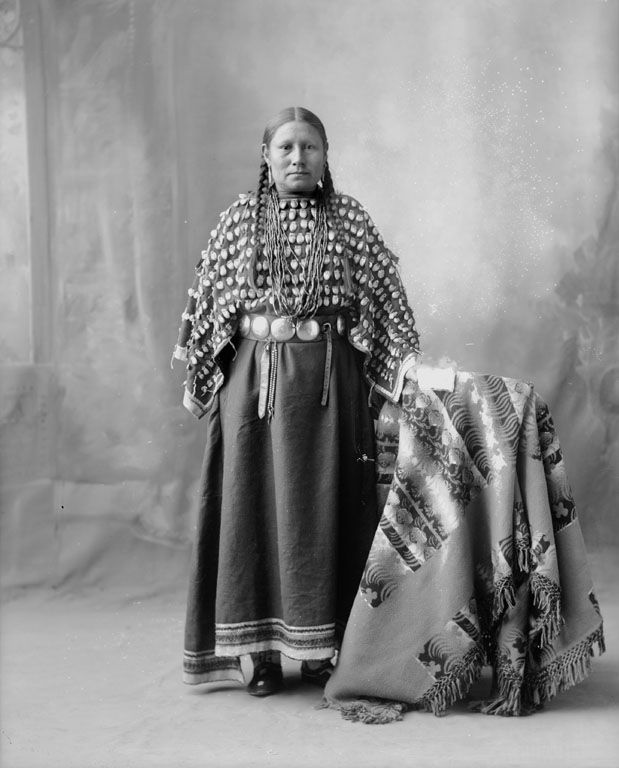 American Indians : Lucy Crooked Nose - Cheyenne 1898.