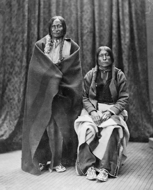 American Indians : Old Wolf Lame White Man - Cheyenne 1868.