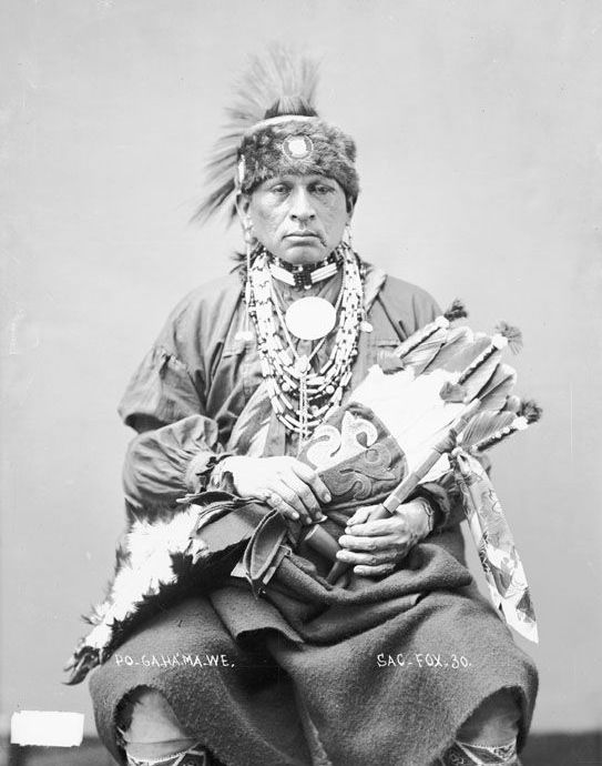 American Indians : Po Ga Ha Ma We - Sauk 1888.