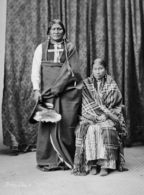 American Indians : Powder Face and wife - Arapaho 1869.