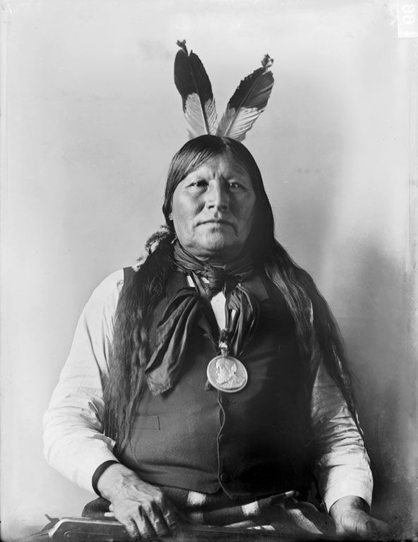 American Indians : Black Crow - Arapaho 1898.