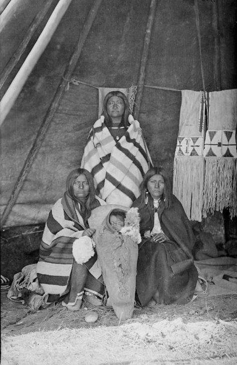 American Indians : Shoshoni Women and Child 1878.
