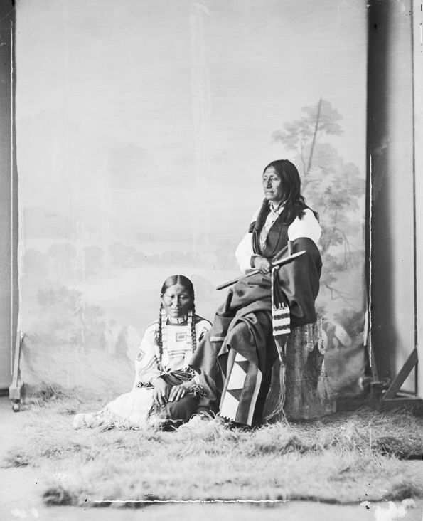 American Indians : Spotted Tail and Wife - Sicangu 1872.
