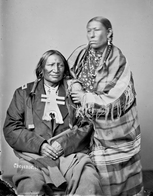 American Indians : Stone Calf and wife - Cheyenne 1871.