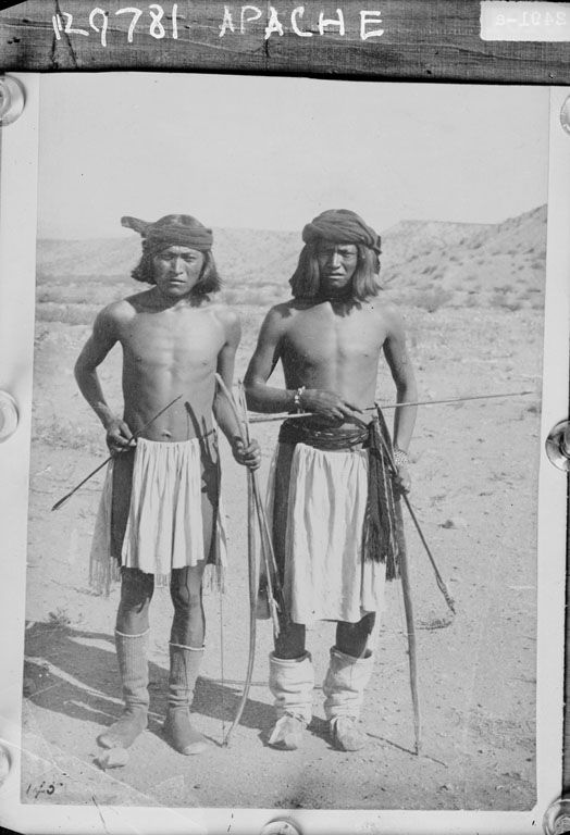 American Indians : Two Chiricahua Apache Men 1888.