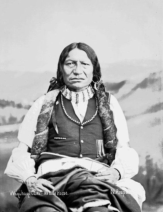 American Indians : White Horse - Arapaho 1882.