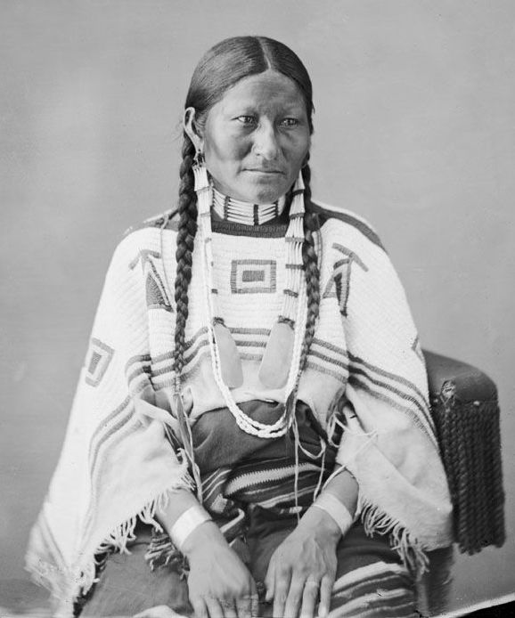 American Indians : Wife of Spotted Tail - Sicangu 1872.