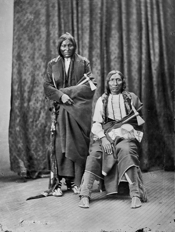 American Indians : Yellow Bear and Little Wolf - Arapaho 1873.