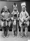 Wolf Plume, Curly Bear, Bird Rattler - Blackfoot 1916.