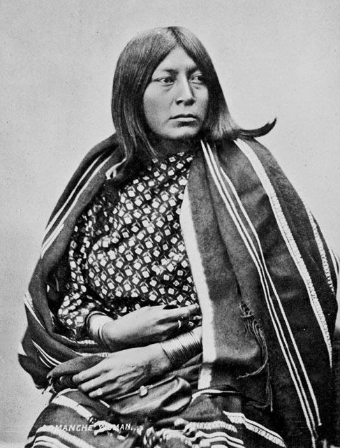 American Indians : Wife of He Goat - Comanche 1872.