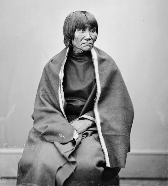American Indians : Wife of Silver Knife - Comanche 1872.