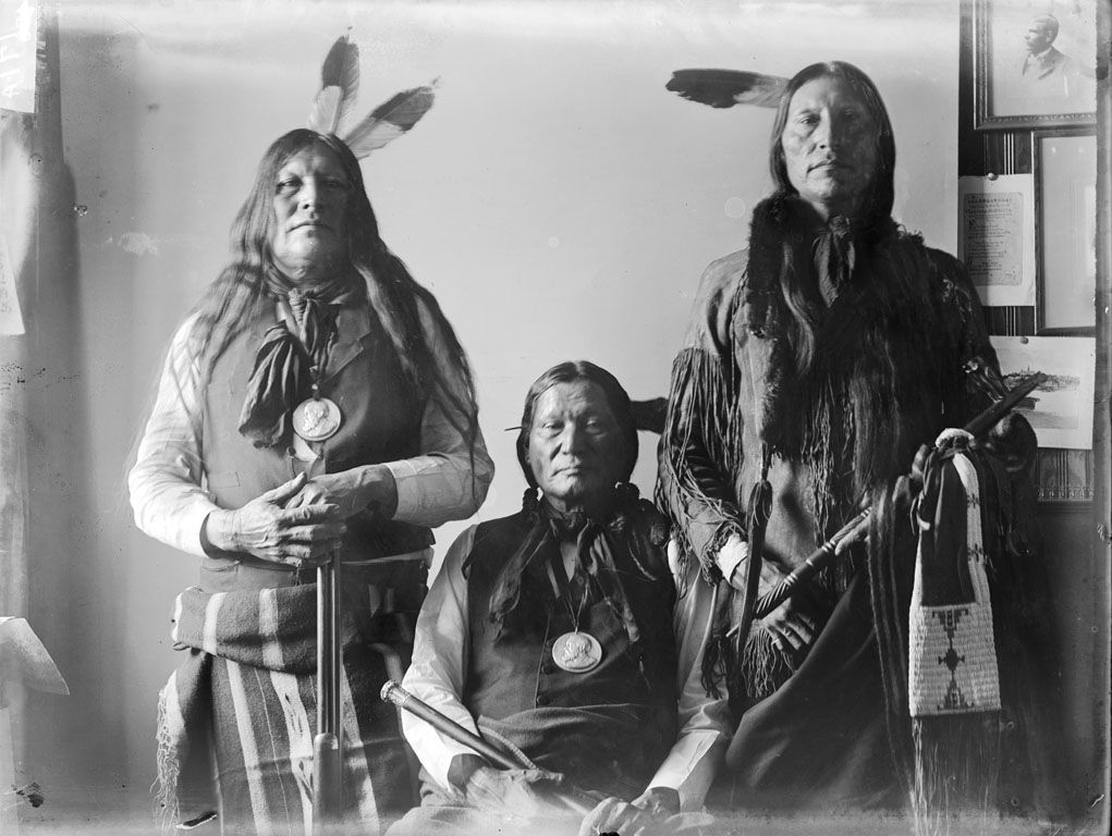 American Indians : Black Crow, Circle Left Hand, Scabby Bull - Arapaho 1898.