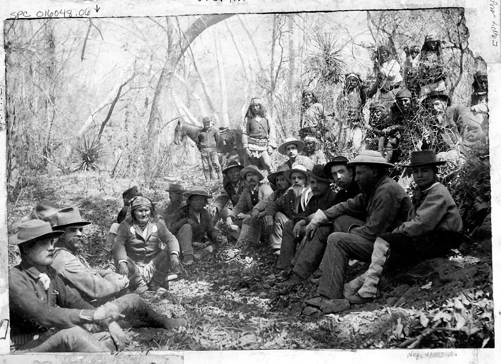 Geronimo with General George Crook in Council 27 March 1886
