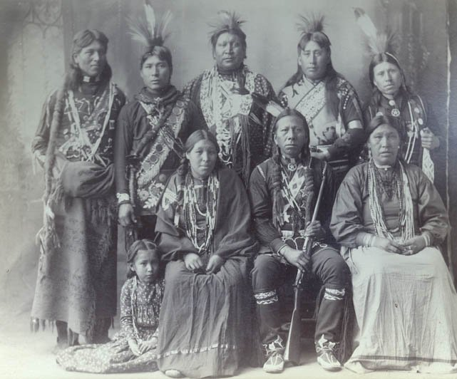 American Indians : Group of Omaha 1898.