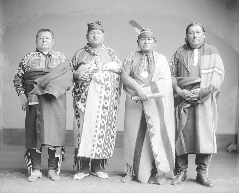 American Indians : Osage Men.