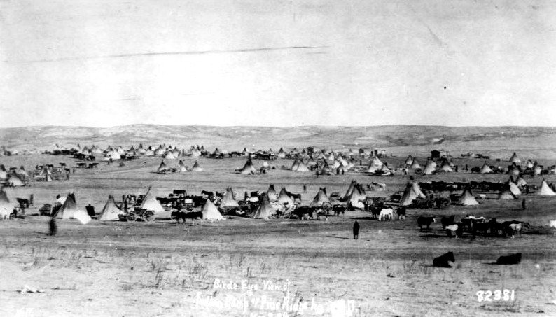 American Indians : Sioux Pine Ridge Camp 1897.