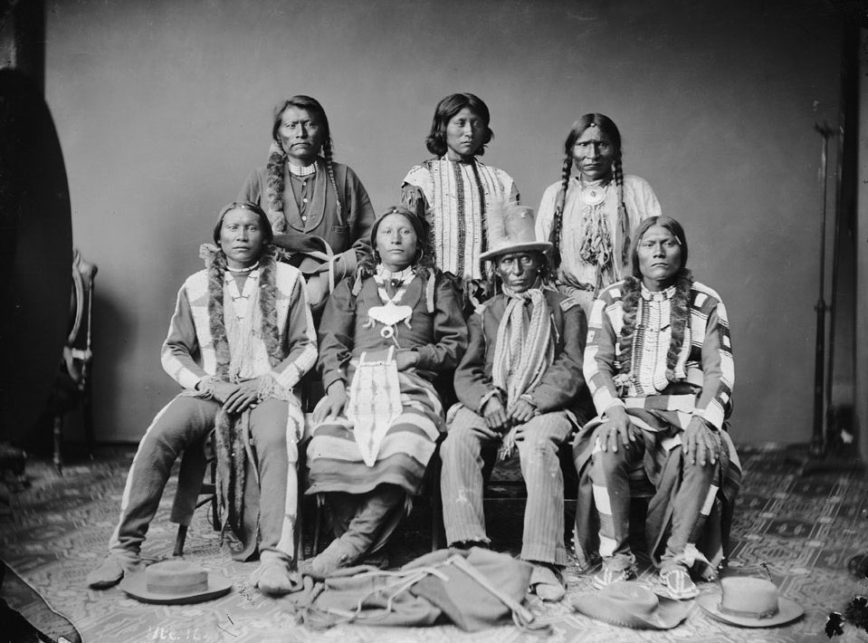 American Indians : Ute Men 1873.