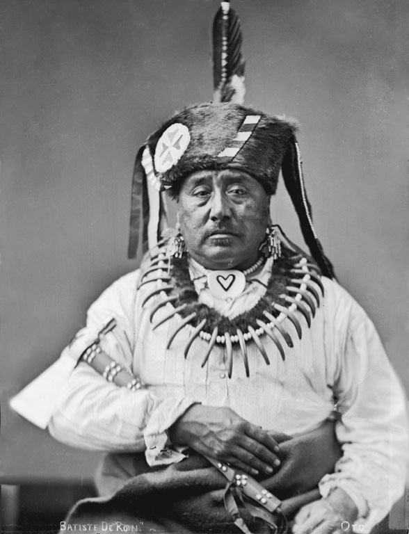 American Indians : Batiste Deroin - Omaha Otoe French 1880.