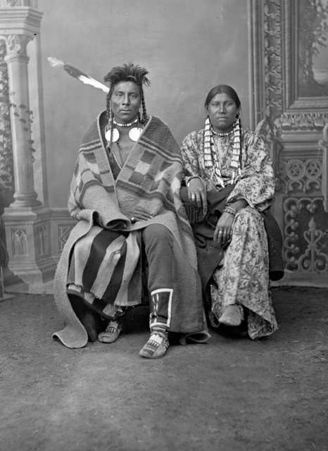 Black Bear and Moon Eyes - Gros Ventre 1880