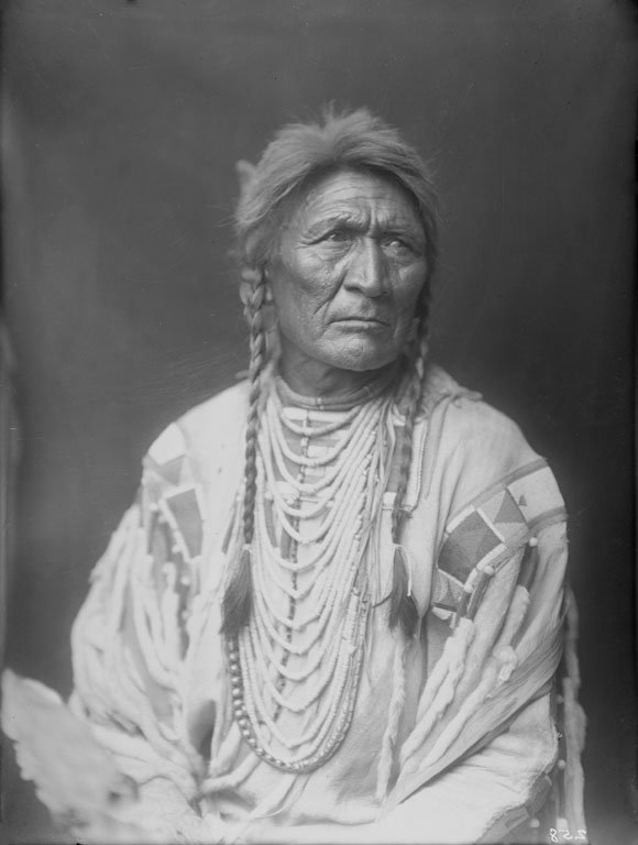 American Indians : Blackfoot Man 1900.