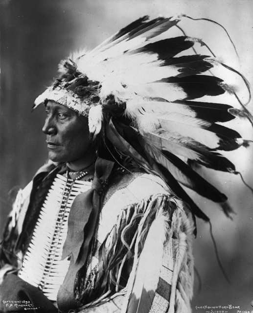 American Indians : Chief Hollow Horn Bear - Sioux 1898.