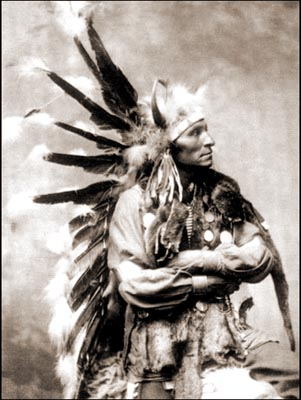 American Indians : Chief Little Horse - Oglala 1899.